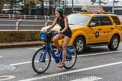 Love A Mini-Skirt On A Bicycle (corneliusreed) Tags: citibike helmet kuchishot taxi select special 1stavenue woman newyork unitedstates