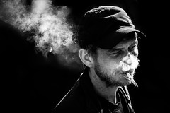 steam (Gerrit-Jan Visser) Tags: smoke smoking cigarette cap amsterdam street bnw blackandwhite photography