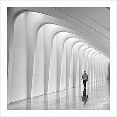 Assossegat / Peaceful. (ximo rosell) Tags: bn blackandwhite bw squares arquitectura architecture abstract abstracció llum luz light calatrava people