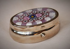 'Box'    for    Looking Close...on Friday. (The.Backyard.Photographer.) Tags: metal silver flowers glass lid pillbox box lookingcloseonfriday