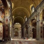 02 Джованни Паоло Паннини. Интерьер собора св. Петра, 1731 Музей св. Людовика, Рим