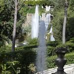 19с Тиволи. Вилла де Эсте. Вид итальянского парка