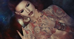 Jenemsu.. (lakaluka) Tags: tattoo tattoos vegas vegastattoos avada rings lipstick eyeliner bento makeup accessories legacy genus