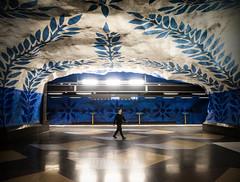 (Magdalena Roeseler) Tags: urban metro geometry underground colour europe fineart art architecture architektur street strassenfotografie candid people olympus omdem1 markii zuiko12mm sweden