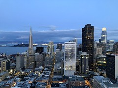 Downtown San Francisco, 2019 (JoeGarity) Tags: lights cities urban city sunset skyscrapers skyline sanfrancisco california
