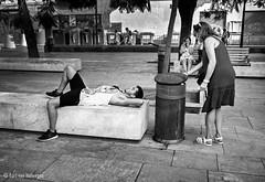 Plaza de la Merced (Bart van Hofwegen) Tags: city people street streetphotography citystreet citylife urban urbanphotography blackandwhite monochrome málaga malaga