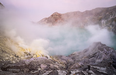 Ijen Volcano (pietkagab) Tags: ijen volcano volcanic landscape crater caldera lake smoke fume sulphur sulfur sulfuric java indonesia indonesian sunset dawn pietkagab photography piotrgaborek sonya7 morning natural nature adventure