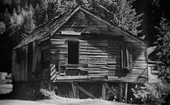 Vacation (Crusty Da Klown) Tags: sandon kootenays bc britishcolumbia canada vacation travel building house old ghosttown bw black white monochrome abandon decay film minolta outside outdoors summer