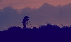 The mysterious man with his camera and tripod. (pitkin9) Tags: peakdistrict derbyshire man camera tripod photography landscape england