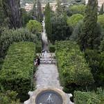 18 Тиволи. Вилла де Эсте. Главная аллея. Вид из дворца, XVI-XVII в