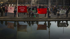 Bristol Strike 4 Climate (zolaczakl) Tags: bristolstrike4climate bristol collegegreen reflections flags banners protest extinctionrebellion rallyforclimatestrike 2019 nikond800 nikonafsnikkor24120mmf4gedvrlens england uk jeremyfennellphotography photographybyjeremyfennell thecouncilhouse march