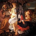 36 Караваджо. Отдых на пути в Египет, 1597. Галерея Дориа-Памфильи, Рим