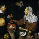 62 Диего Веласкес. Старая кухарка, 1618. Нац. галерея Шотландии, Эдинбург