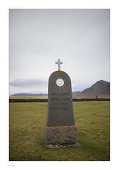 Iceland 2019 (Michael Fleischer) Tags: iceland autumn landscape colour light churchyard gravestone people nikon d810 tamron sp 35mm f14 di usd mountain búðir
