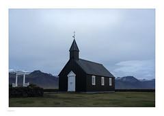Iceland 2019 (Michael Fleischer) Tags: iceland autumn landscape colour light church morning cloud mountain nikon d810 tamron sp 35mm f14 di usd snow búðir