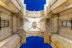 Arco do Triunfo [PT] (ta92310) Tags: travel bluehour longexposure lisboa lisbon lisbonne europe portugal architecture cloudy place praca comercio matin morning arco triunfo arc triomphe
