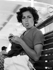 "I asked only ""cheese"" (Mattia Camellini) Tags: ritratto portrait woman people persona vintagecamera zenite helios44258mm id11 russianlens sovietlens mattiacamellini canoscan9000fmarkii italia linguaccia tongueout makeaface explore"