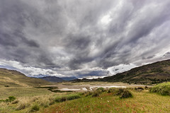 Storm clouds over the Valle Chacabuco (tmeallen) Tags: stormclouds vallechacabuco springflowers lakes mountains chacabucovalley conservacionpatagonia patagonianationalpark remote travel chile estcantiavallechacobuco restorationproject