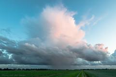 Anvil Light (mesocyclone70) Tags: sunset shower thunder polar landscape holland netherlands countryside anvil