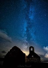 Heavens Above (manxmaid2000) Tags: milky way sky night stars chapel blue skies samyang12mmf2 samyang 12mm isleofman milkyway langness manx darkskies dark fuji nightsky astro