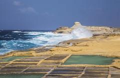 At the Salt Pans (CraDorPhoto) Tags: canon6d landscape coast coastline waves nature outdoors outside gozo malta sky blue seascape