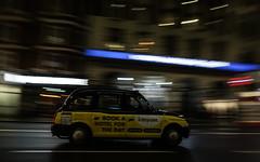 City cab (PChamaeleoMH) Tags: cab centrallondon evening london motion panning street taxi victoria