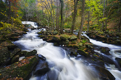 Doane's Creek Autumn Cascades (RobertCross1 (off and on)) Tags: a7rii alpha doanesfalls emount ilce7rm2 longexposure ma massachusetts newengland royalston sony autumn creek fall foliage forest fullframe landscape leaves mirrorless stream trees water waterfall fe1635mmf4zaoss