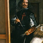 65а Диего Веласкес. Менины. Фрагмент - автопортрет