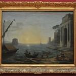 92 Клод Лоррен. Утро в гавани, 1674. Мюнхенская Пинакотека