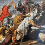98в Рубенс. Охота на львов, 1621. Мюнхенская Пинакотека