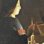 91с Жорж де Латур. Воспитание Богоматери, фрагмент