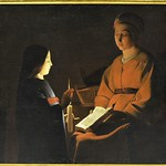 91в Жорж де Латур. Воспитание Богоматери, 1650. Лувр