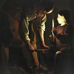 91а Жорж де Латур. Иосиф-плотник со Христом, 1640-45. Лувр