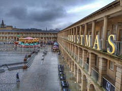 Snapseed HDR tool (Chris Hester) Tags: 478p halifax piece hall christmas rain merry go round carousel snapseed hdr