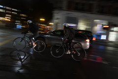 Brave bikers (PChamaeleoMH) Tags: bicycles centrallondon evening london motion panning street victoria