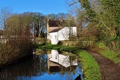 Canalside Cottage, Peak Forest Canal,  Furness Vale, Peak District (HighPeak92) Tags: reflections cottages canalsidecottages canals peakforestcanal furnessvale peakdistrict derbyshire canonpowershotsx740hs
