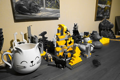 Yellow only mode on my camera! (Chris Hester) Tags: 79p psx lego classic yellow only cat cup