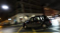 Cab crossing criss-cross box (PChamaeleoMH) Tags: cab centrallondon evening london motion panning street taxi victoria