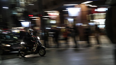 Scooting commuting (PChamaeleoMH) Tags: centrallondon evening london motion panning street victoria