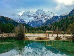 Lake Jasna (christinekogler1) Tags: lakejasna mountainlake mountainview mountains krajnskagora julianalps slovenia