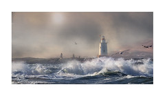 A Turn In The Weather (windshadow2) Tags: storm stormy ocean waves lighthouse windy sea gulls nikon d500 powerful spray current tide weather wave