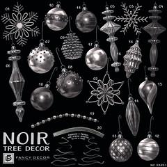 Noir Tree Decorations @ The Arcade (fancydecorsl) Tags: sl second life gacha fancy decor arcade