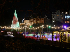 Christmas tree wonderland (auroradawn61) Tags: afterdark christmastreewonderland bournemouth dorset uk england november 2019 iceskating rink