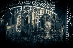 Malta -13 (coopertje) Tags: europe europa malta republic culture vacation island mediterranean mediterrane middellandsezee church evening night black white bw architecture unesco world heritage site senglea procession maria