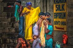 Morning Rituals at the Ganges River #10 (felixvancakenberghe) Tags: asia asian girls hinduism india people religion varanasi women