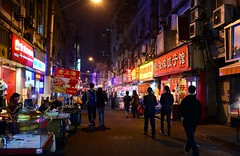 Shanghai - Guangxi Road (cnmark) Tags: china shanghai huangpu district guangxi road food street alley side narrow people gasse strase lights night nacht nachtaufnahme noche nuit notte noite 上海 中国 黄埔区 广西路 ©allrightsreserved