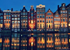 Amsterdam colours (mary.th) Tags: city cityscape architecture travel houses dusk water river canal urban reflections colours amsterdam holland netherlands