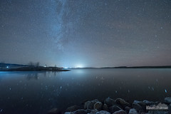 Barely Liquid (kevin-palmer) Tags: november fall autumn night sky stars starry space astronomy astrophotography clear dark cold lakedesmet water reflection wyoming buffalo nikond750 sigma14mmf18