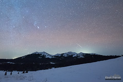 10:13 Sporadic (kevin-palmer) Tags: november fall autumn night sky stars starry space astronomy astrophotography clear dark cold snow bighornmountains bighornnationalforest powderriverpass hessemountain orion meteor shootingstar alpha monocerotid shower wyoming nikond750 sigma14mmf18