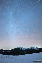 Winter Stars at Powder River Pass (kevin-palmer) Tags: november autumn fall sky snow cold night dark stars space clear astrophotography orion astronomy starry bighornmountains bighornnationalforest powderriverpass hessemountain wyoming nikond750 sigma14mmf18
